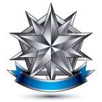 Постер, плакат: Heraldic template with complicated silver star