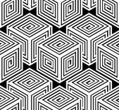 Monochrome abstract geometric seamless pattern