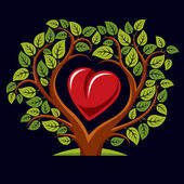 tree with branches in the shape of heart