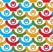 Seamless background with smiley faces