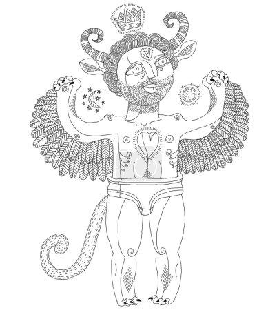 Hand drawn weird creature