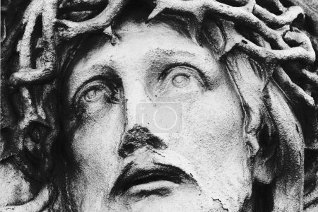Photo for Jesus Christ in a crown of thorns (fragment of statue) - Royalty Free Image