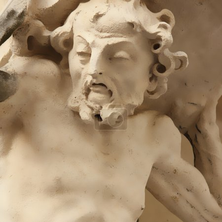 Photo pour Dieu Zeus le punissait : il devait dérouler un rocher de haute montagne, qui atteignait le sommet, chaque fois que reculait . - image libre de droit