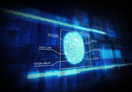 Blue digital fingerprint