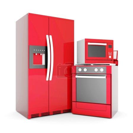 Photo pour Photo des appareils ménagers sur fond blanc - image libre de droit