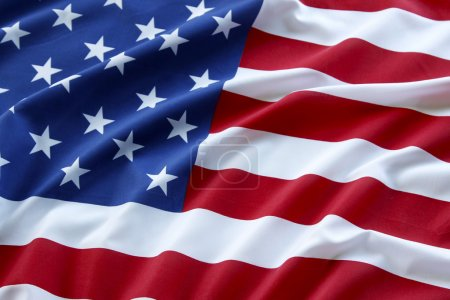 Photo for Closeup of ruffled American flag - Royalty Free Image