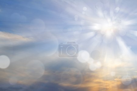 Photo for Sun rays shining brightly in sky - Royalty Free Image