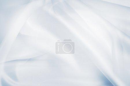 tejido de seda azul