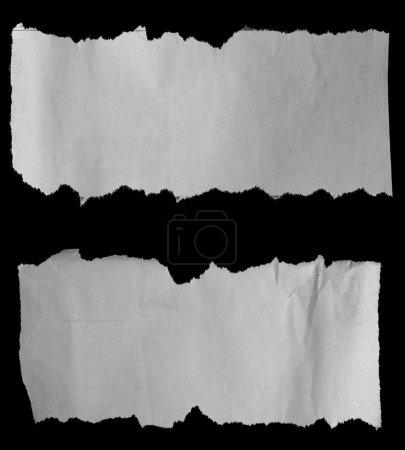 Two torn papers