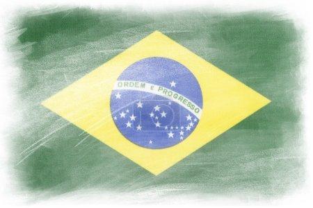 Brazilian flag on white