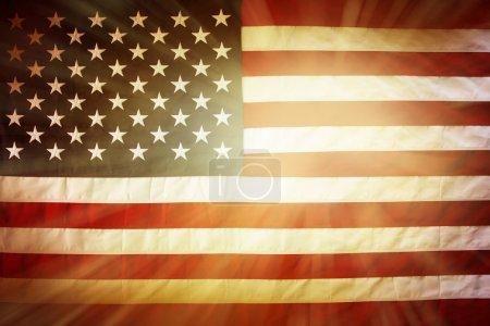 helle amerikanische Flagge