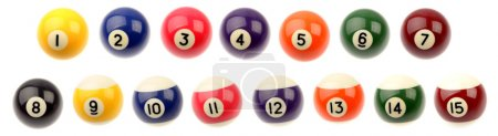 Fifteen pool balls