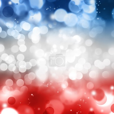 Foto de Círculos abstractos fondo rojo blanco y azul - Imagen libre de derechos