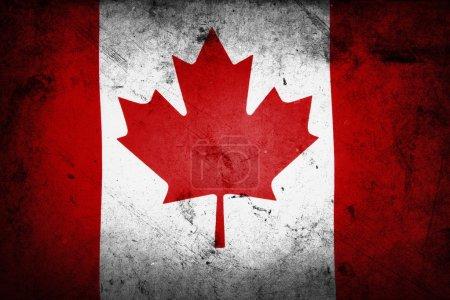 Photo pour Grunge effet texturé drapeau canadien - image libre de droit