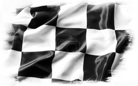 Black and white flag