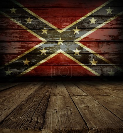 Confederate flag on wall