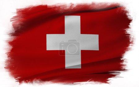 Photo for Swiss flag on plain background - Royalty Free Image