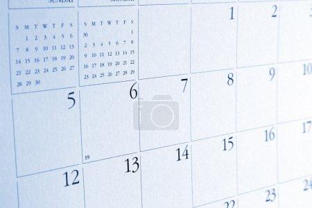 Numbers on calendar