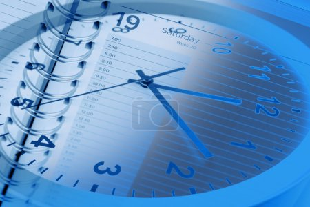 Clock and diary