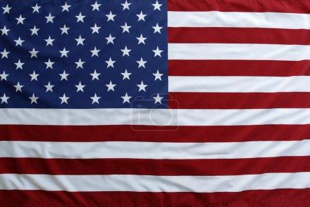USA flag close-up