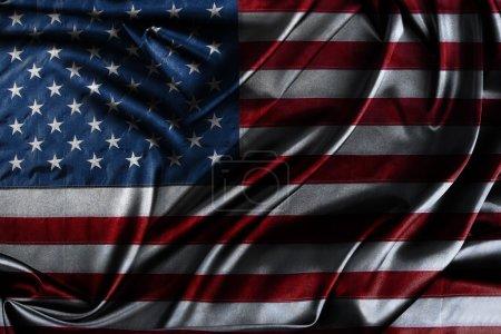 Photo pour Gros plan de drapeau américain soyeux - image libre de droit