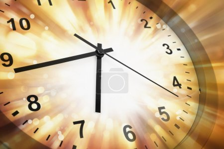 Photo for Clock face and abstract background - Royalty Free Image