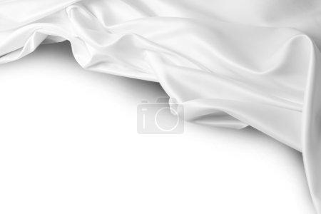 Photo pour Gros plan de tissu de soie ondulé. Espace de copie - image libre de droit