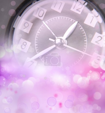 Photo for Clock face and abstract background. New Year. Christmas. Spring - Royalty Free Image