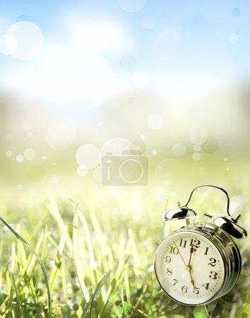 Photo pour Réveil dans le champ de printemps - image libre de droit