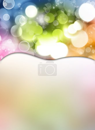 Photo for Circles on colorful abstract background - Royalty Free Image