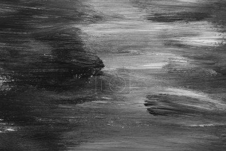 Photo pour Gros plan de peinture noire et blanche - image libre de droit