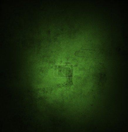 Foto de Pared con textura de grunge verde. Bordes oscuros. Espacio publicitario - Imagen libre de derechos