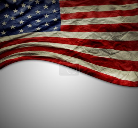 Photo for American flag on grey background - Royalty Free Image