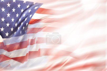 Photo pour Résumé drapeau des États-Unis. Espace de copie - image libre de droit