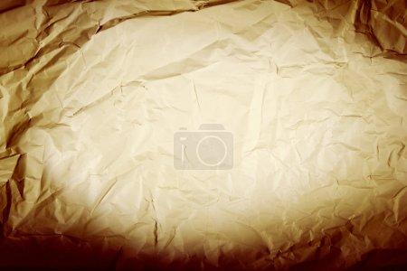 Photo pour Gros plan de fond de texture de papier ridé brun - image libre de droit