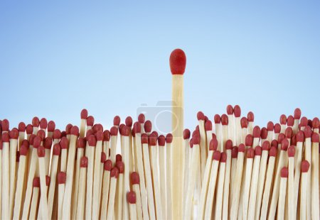 Photo for One match standing out from the crowd - Royalty Free Image