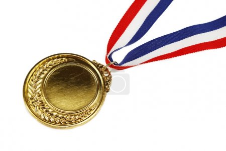 Medal on white