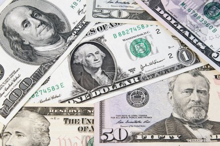 Assorted American banknotes