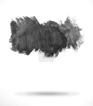 Photo for Black paint on plain background - Royalty Free Image