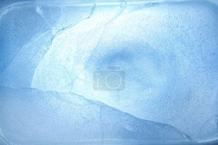 Cracked blue ice