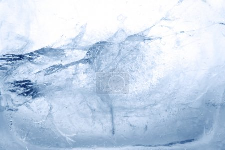 Photo for Closeup of blue ice background - Royalty Free Image