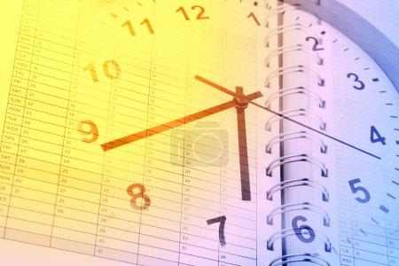 Time management clock
