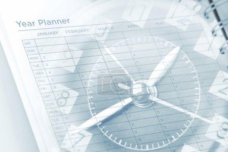 Year planning clock