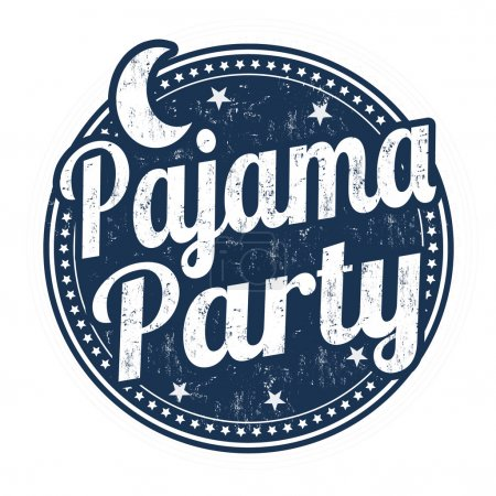 Pajama party stamp