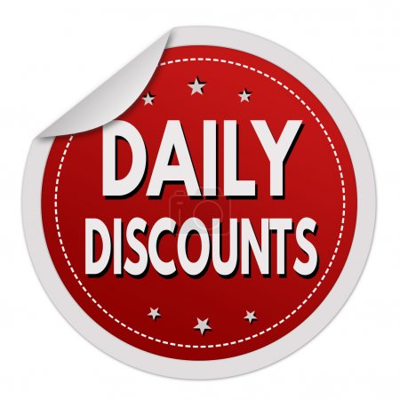Daily discounts red sticker