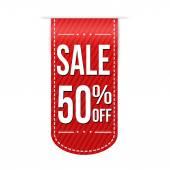 Sale 50 off banner design over a white background vector illustration