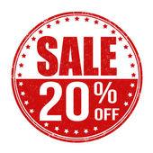 Sale 20 off stamp