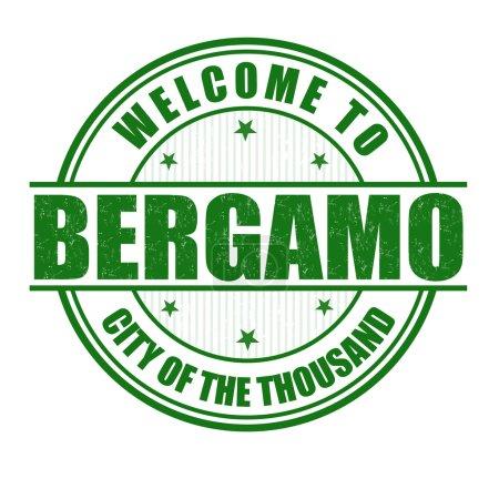 Welcome to Bergamo stamp