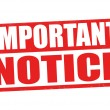 Important notice grunge rubber stamp on white, vec...