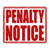Penalty notice stamp